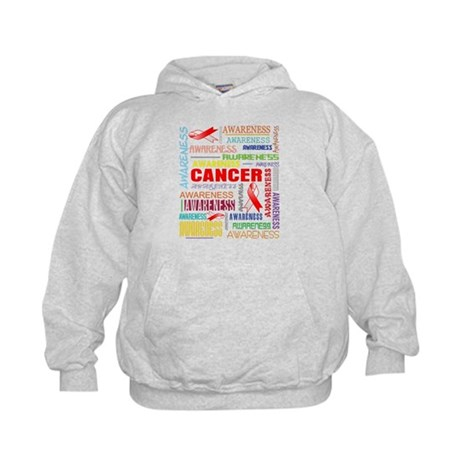 Oral Cancer Awareness Collage Kids Hoodie
