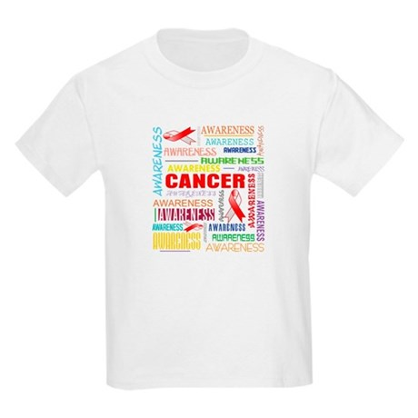 Oral Cancer Awareness Collage Kids Light T-Shirt