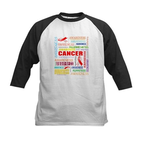 Oral Cancer Awareness Collage Kids Baseball Jersey