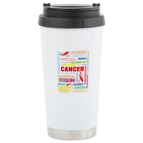 Oral Cancer Awareness Collage Ceramic Travel Mug