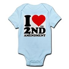 I Heart the 2nd Amendment Infant Bodysuit