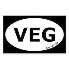 Vegetarian Euro Oval Decal