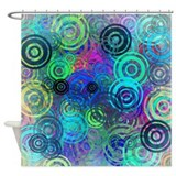 Abstract Colorful Rings Shower Curtain