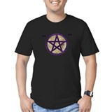 Ironic Pentacle Men's Fitted T-Shirt (purple/dark)