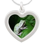 treefrog III Silver Heart Necklace