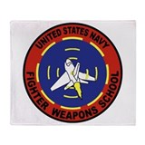 Fighter Weapons School Throw Blanket