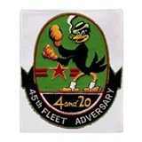45th Fleet Adversary Squadron Throw Blanket