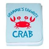 Grammie's Favorite Crab baby blanket