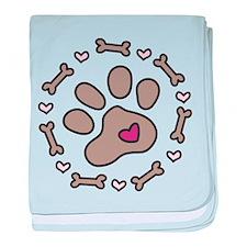 Dog Bone Circle baby blanket