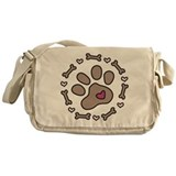 Dog Bone Circle Messenger Bag