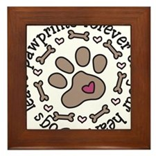 Pawprints Framed Tile