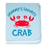 Grammy's Favorite Crab baby blanket