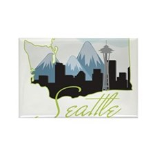 Seatle Washington Rectangle Magnet