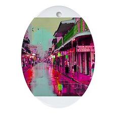 Unique Bourbon street Ornament (Oval)