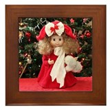 Christmas Caroling Doll #3 Framed Tile