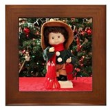 Christmas Caroling Doll #2 Framed Tile