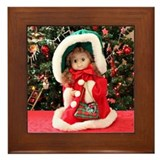 Christmas Caroling Doll #1 Framed Tile