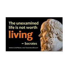 Socrates Unexamined Life Rectangle Car Magnet