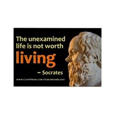 Socrates Unexamined Life Rectangle Magnet
