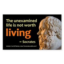 Socrates Unexamined Life Decal