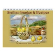 Sicilian Recipe Art Wall Calendar