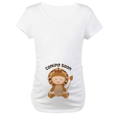 Baby Lion Coming Soon Maternity T-Shirt