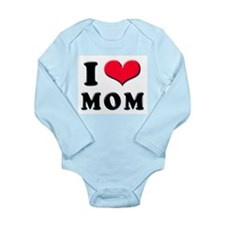 Cute New mom valentines Long Sleeve Infant Bodysuit