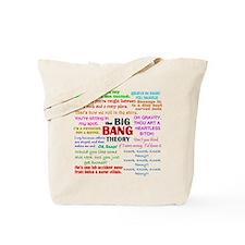 Big Bang Theory Quotes Tote Bag