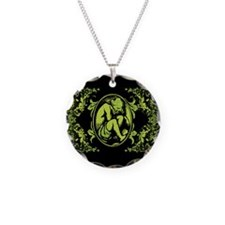 Weeping Cherub Green Necklace