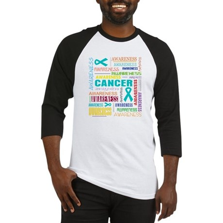 Ovarian Cancer Awareness Collage Baseball Jersey