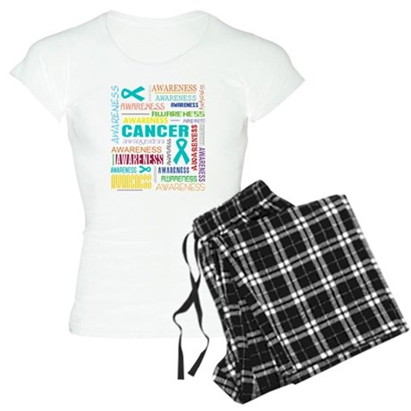 Ovarian Cancer Awareness Collage Women's Light Paj