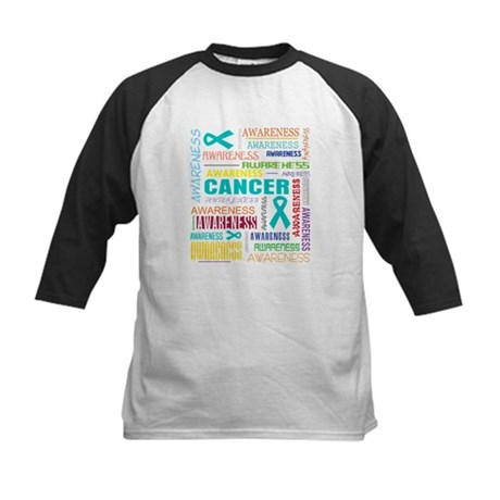 Ovarian Cancer Awareness Collage Kids Baseball Jer