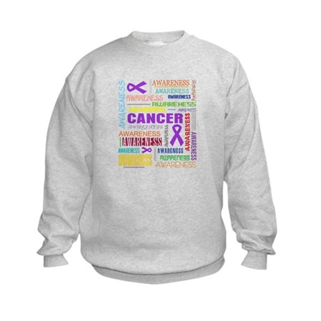 Pancreatic Cancer Awareness Collage Kids Sweatshir