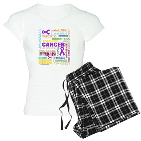 Pancreatic Cancer Awareness Collage Women's Light