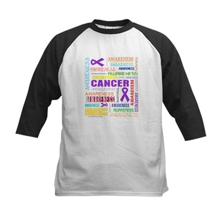 Pancreatic Cancer Awareness Collage Kids Baseball