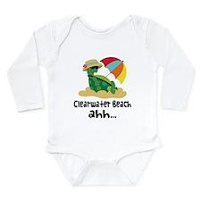 Clearwater Beach Turtle Long Sleeve Infant Bodysui