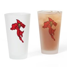 Cardinal Mascot Drinking Glass