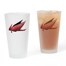 Flying Cardinal Drinking Glass