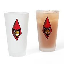 Cardinal Face Drinking Glass