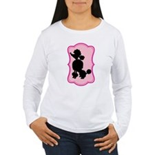 Black and Pink Poodle Silhouette T-Shirt