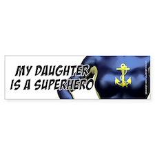 Super Daughter - Drk Blue, Bumper Car Sticker