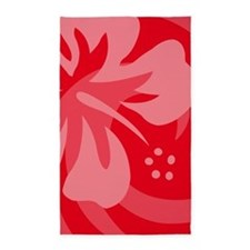 Hibiscus Red 3'x5' Area Rug