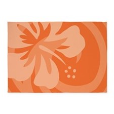 Hibiscus Orange 5'x7'Area Rug
