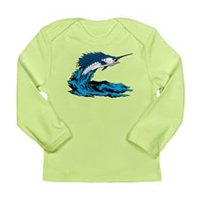 Swordfish Jump Long Sleeve Infant T-Shirt