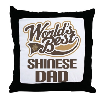 Shinese Dog Dad Throw Pillow