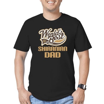 Shiranian Dog Dad Men's Fitted T-Shirt (dark)