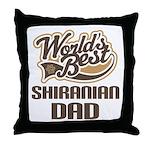 Shiranian Dog Dad Throw Pillow