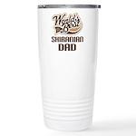 Shiranian Dog Dad Ceramic Travel Mug