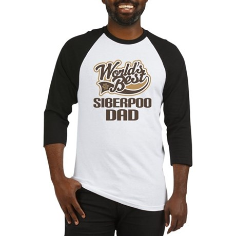 Siberpoo Dog Dad Baseball Jersey