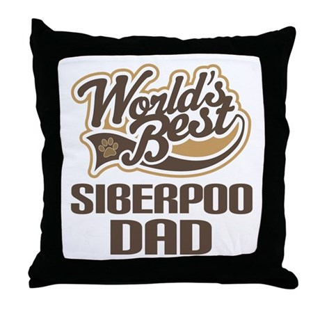 Siberpoo Dog Dad Throw Pillow